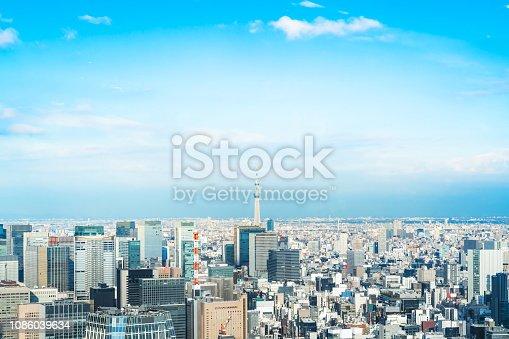 1184122904 istock photo urban city skyline aerial view in Tokyo, Japan 1086039634