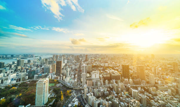東京都の都市スカイライン撮 - 街 日本 ストックフォトと画像