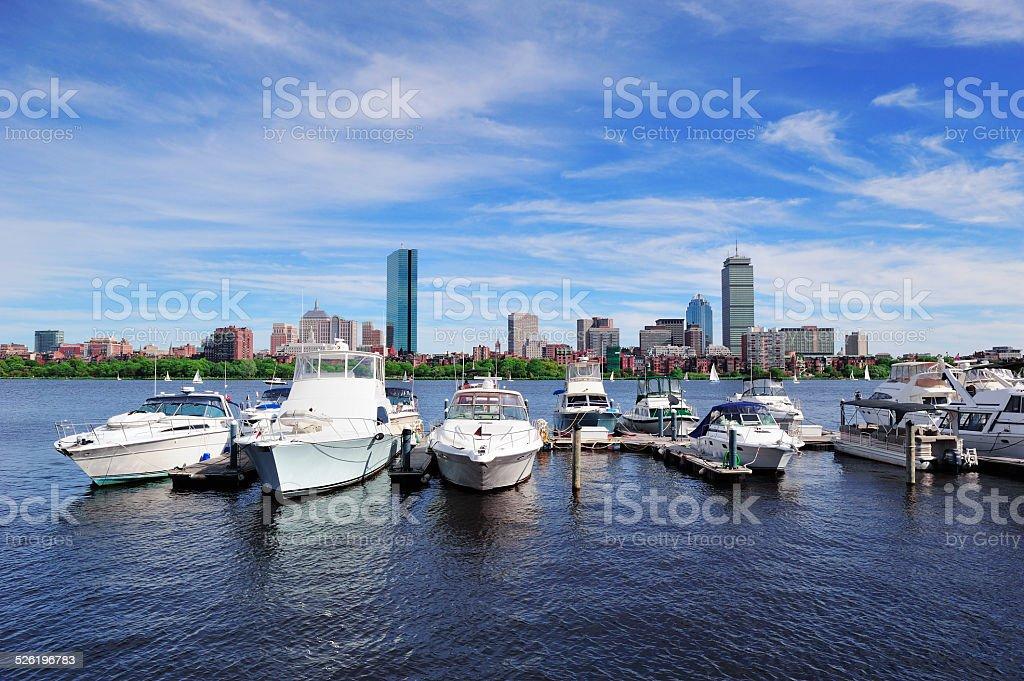 Urban cityscape in Boston stock photo