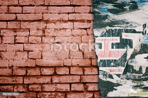 istock Urban Concrete Brick Wall With Copy Space 995991804