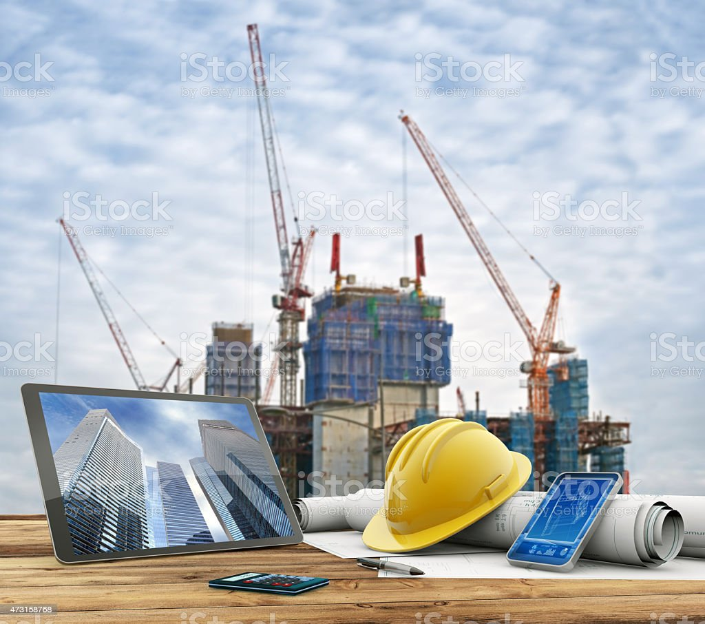 urban construction site stock photo