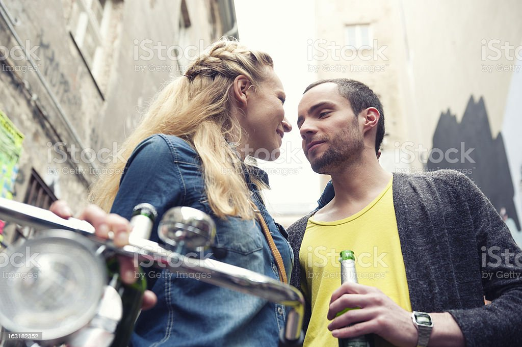 Urban couple in love royalty-free stock photo