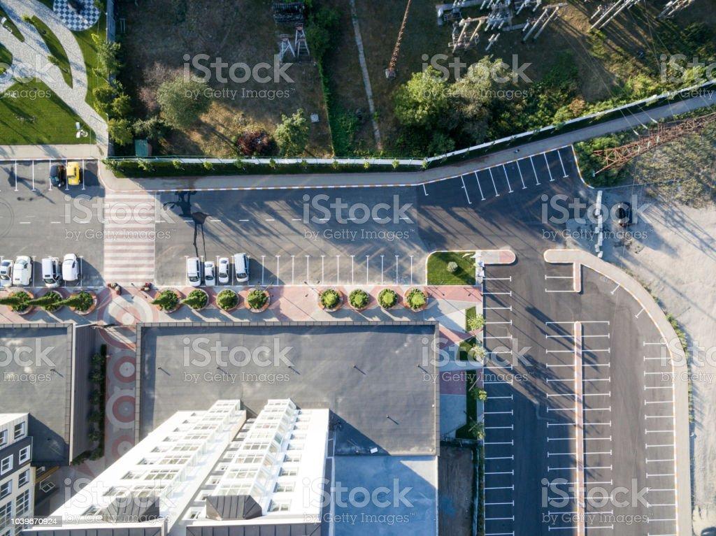 Kentsel avlu, yüksek katlı bina, üstten görünüm - Royalty-free Apartman Stok görsel