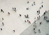 istock Urban crowd from above 495692241