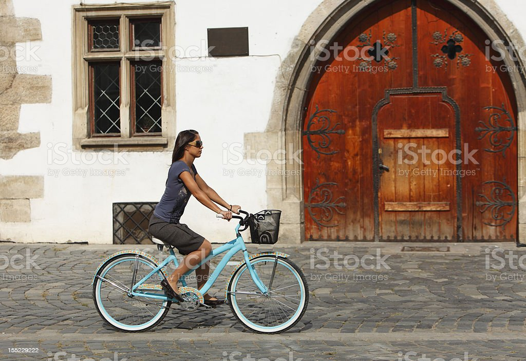 Urban Cycling royalty-free stock photo