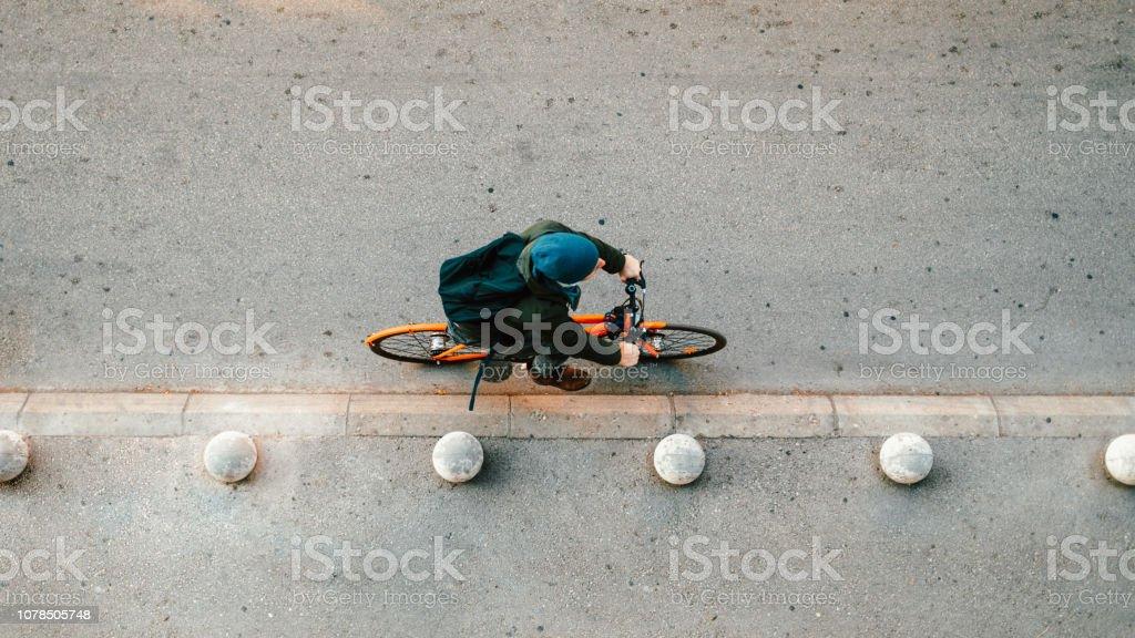 Urbane Radfahrer auf der Straße – Foto