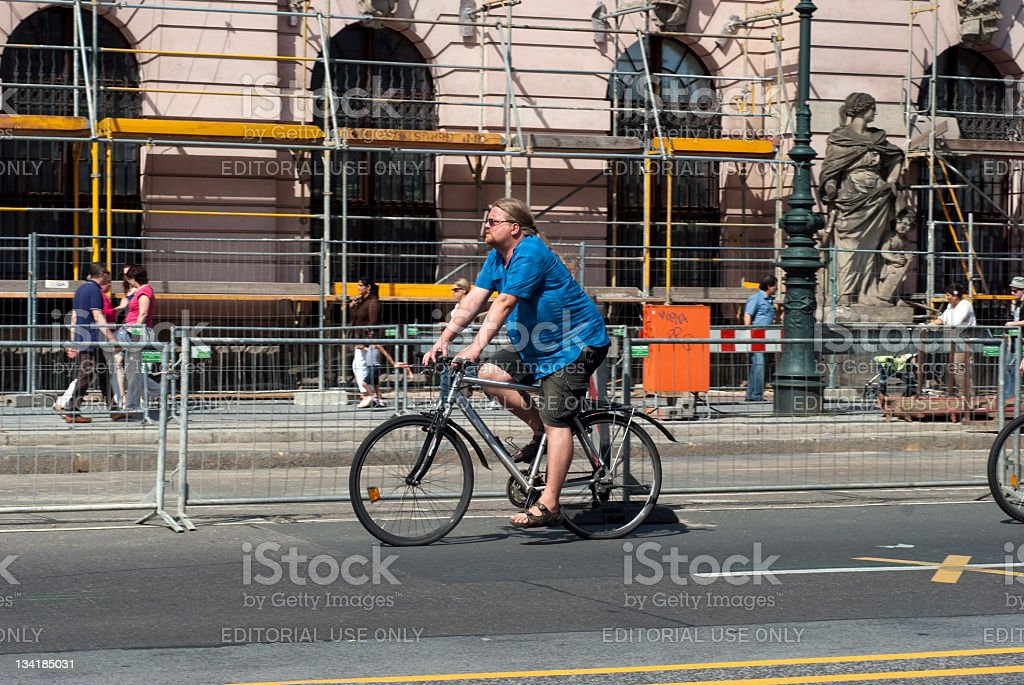 Urban cyclist royalty-free stock photo