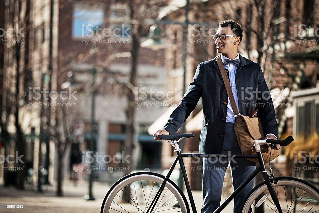 Urban Cyclist stock photo