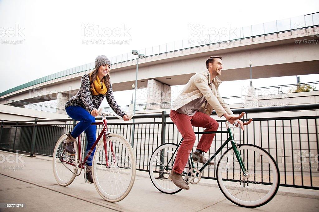 Urban Cyclists stock photo