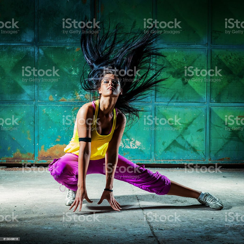 Urban dancer stock photo