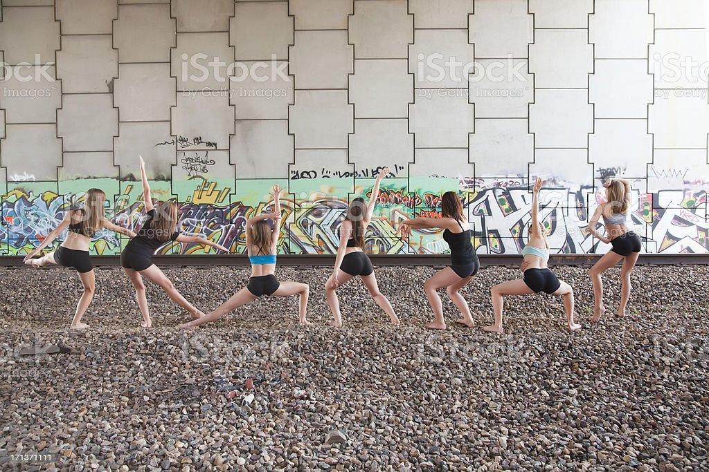 Urban Dancers royalty-free stock photo