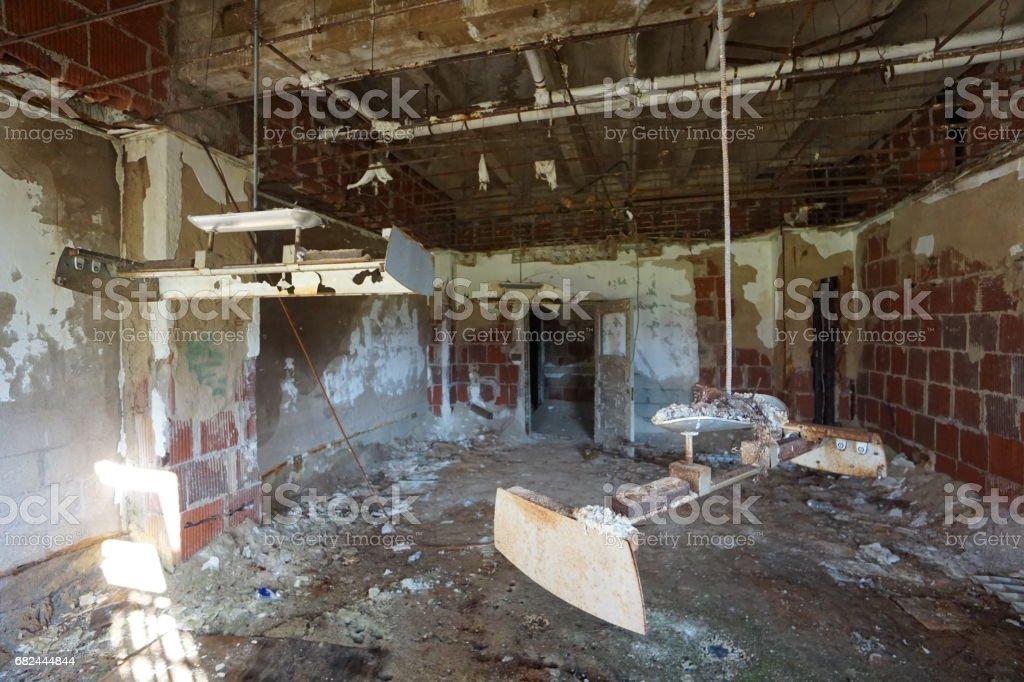 Urban Decay und verlassenen Maryland öffentliche Schulen und Krankenhäuser Lizenzfreies stock-foto