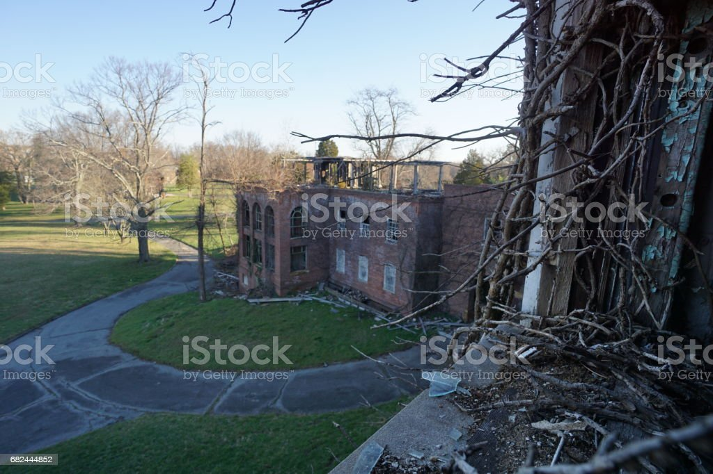 Urban Decay and Abandoned Maryland Public Schools and Hospitals royalty-free stock photo