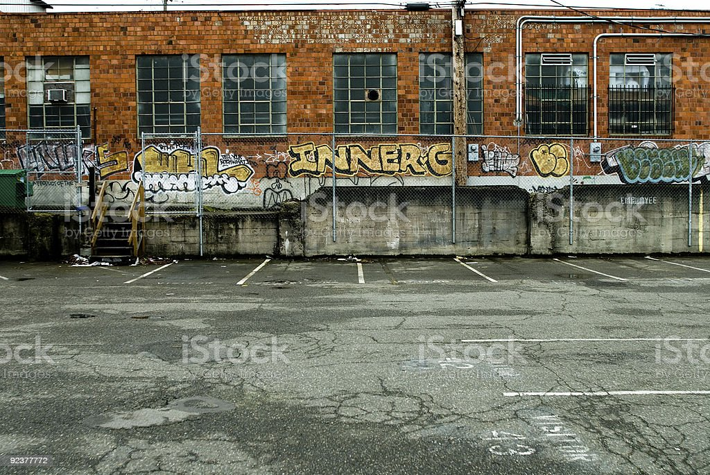Urban Decay - Back Alley royalty-free stock photo