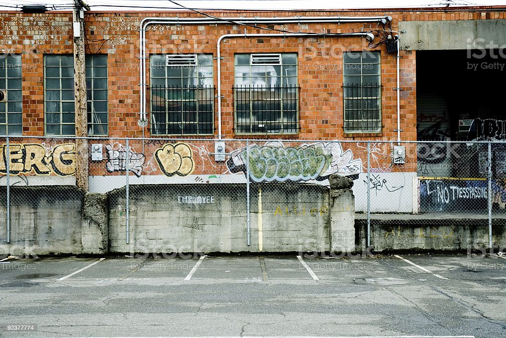 Urban Decay - Full Color Loading Dock royalty-free stock photo