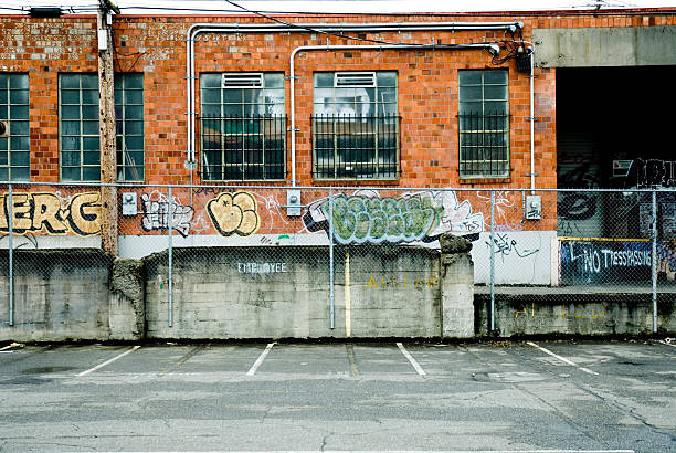 Urban Decay - Full Color Loading Dock stock photo