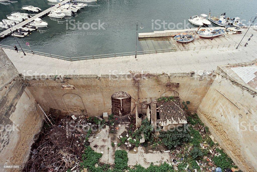 Urban decay in Castellammare del Golfo - degrado urbano stock photo