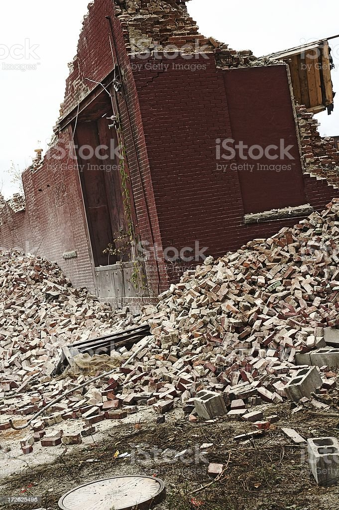 Urban destruction royalty-free stock photo