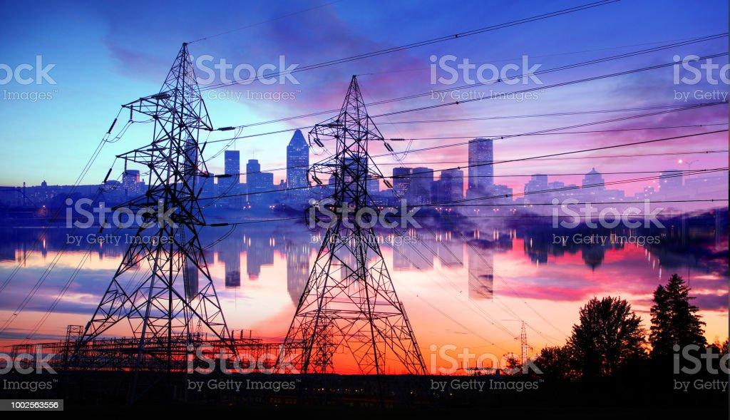 Urban Electricity Supply stock photo