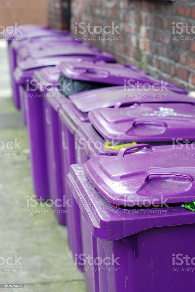 Urban english trash bins royalty-free stock photo
