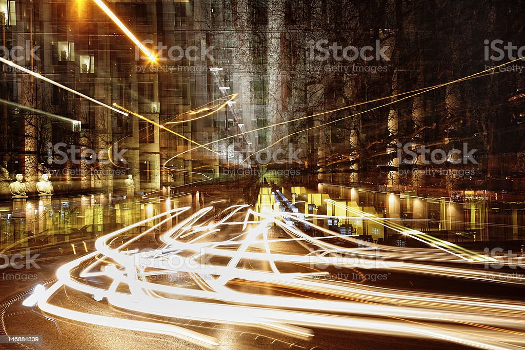 urban evening royalty-free stock photo