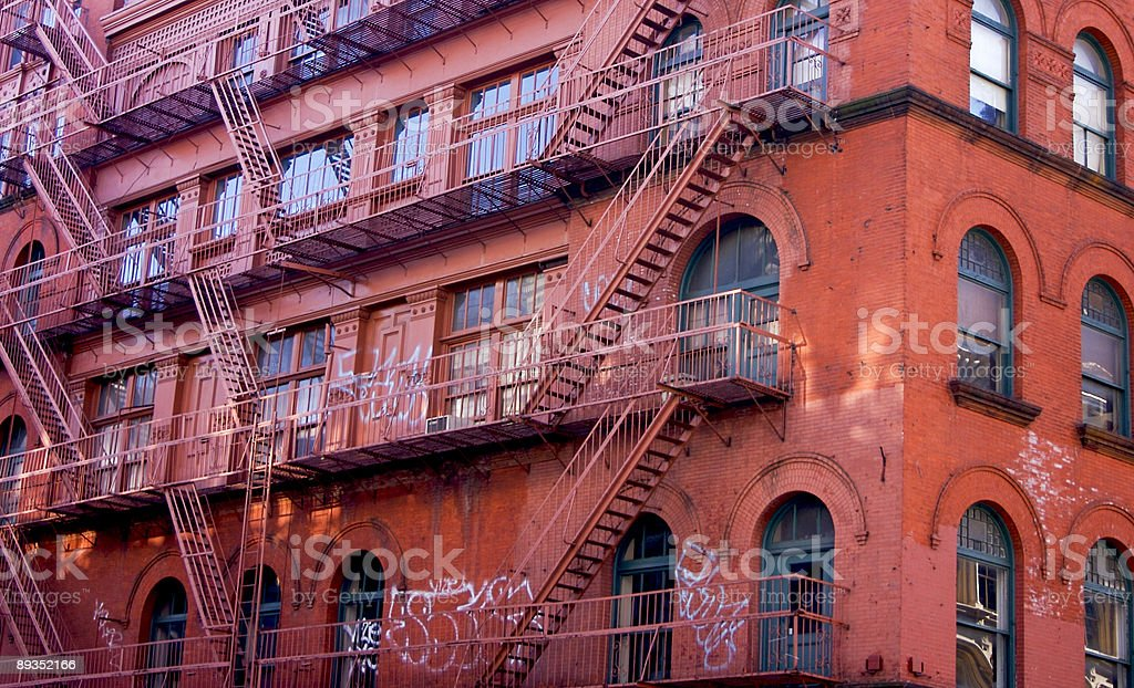 Urban Fire Escapes royalty-free stock photo