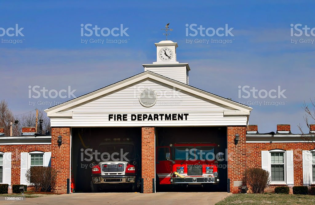 Urban Fire Station House stock photo