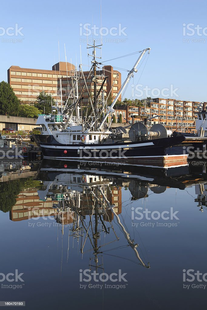 Urban Fishboat, Vancouver royalty-free stock photo
