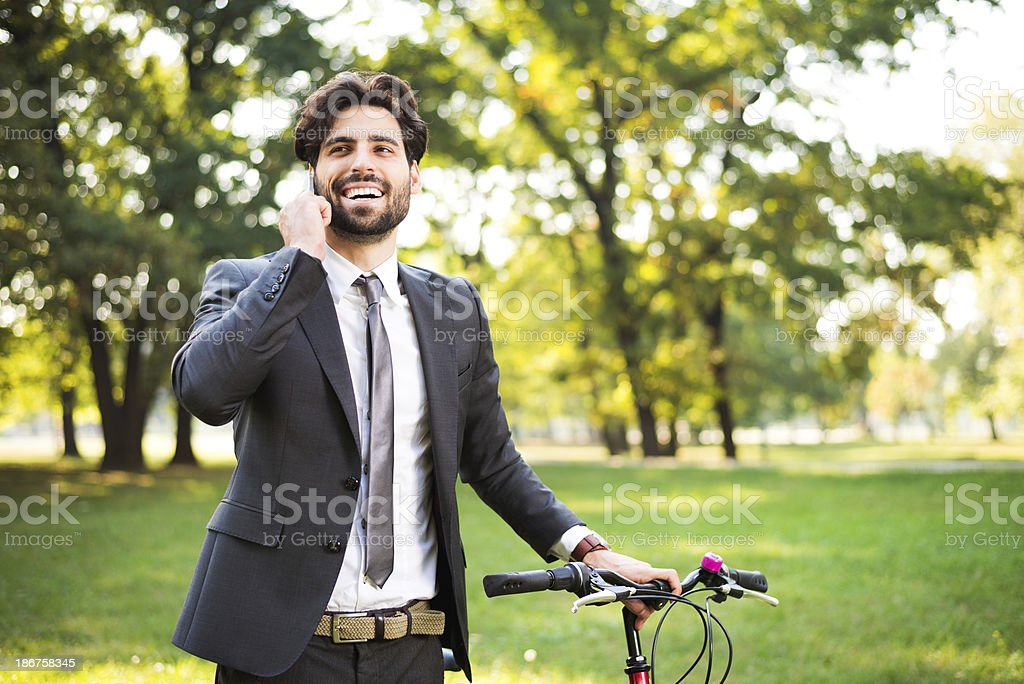 Urban fitness and business royalty-free stock photo