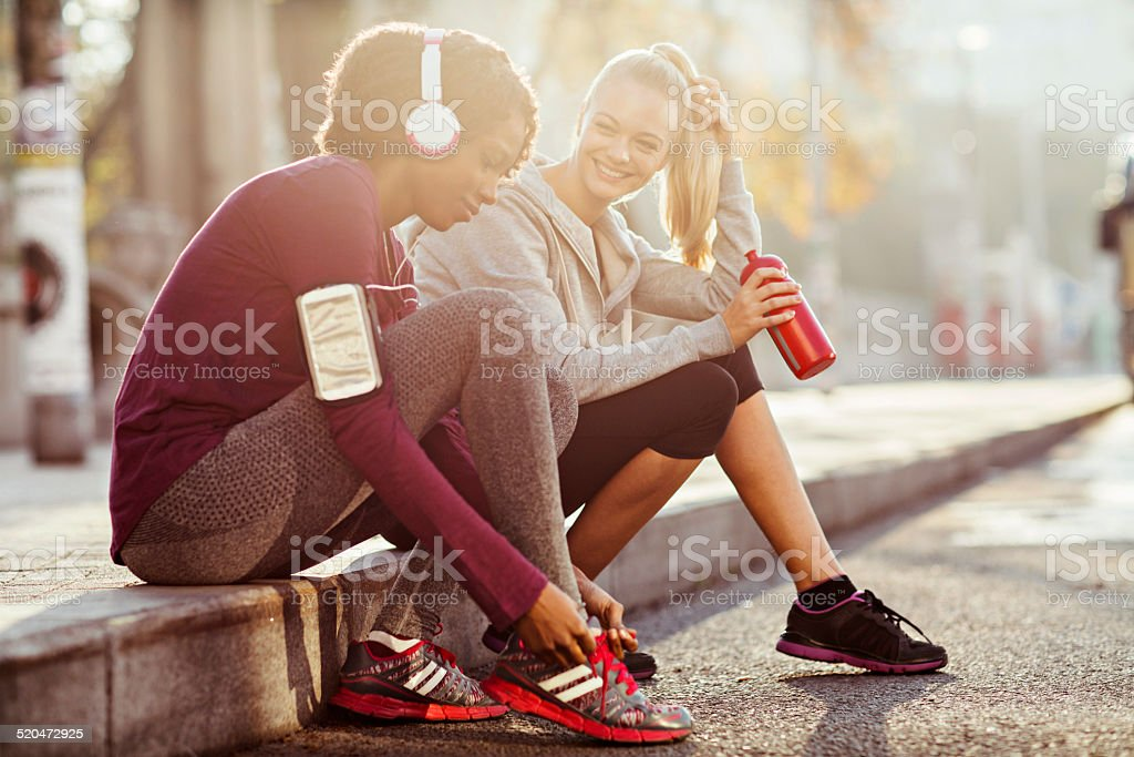 Urban fitness stock photo