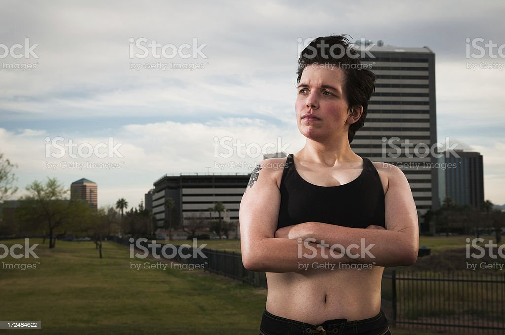 Urban fitness woman royalty-free stock photo