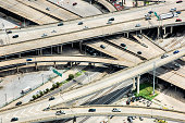 Aerial view of the Interstate 10 junction with Highway 90 near downtown New Orleans, Louisiana
