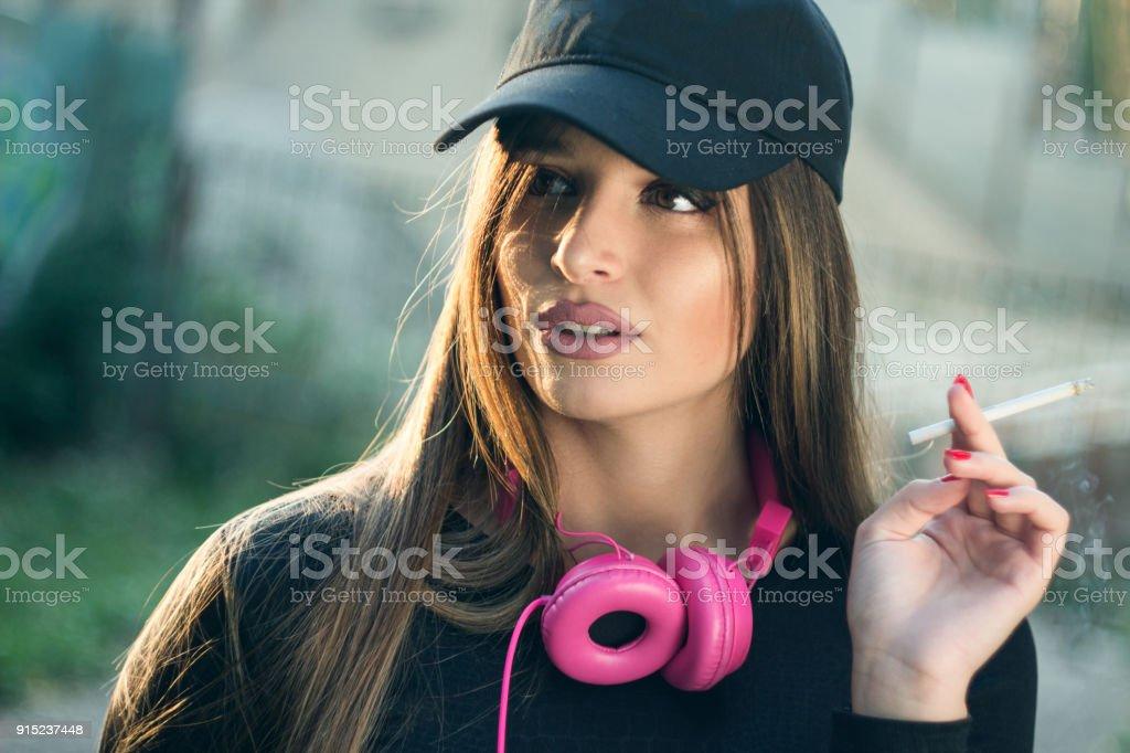 Urban  girl stock photo