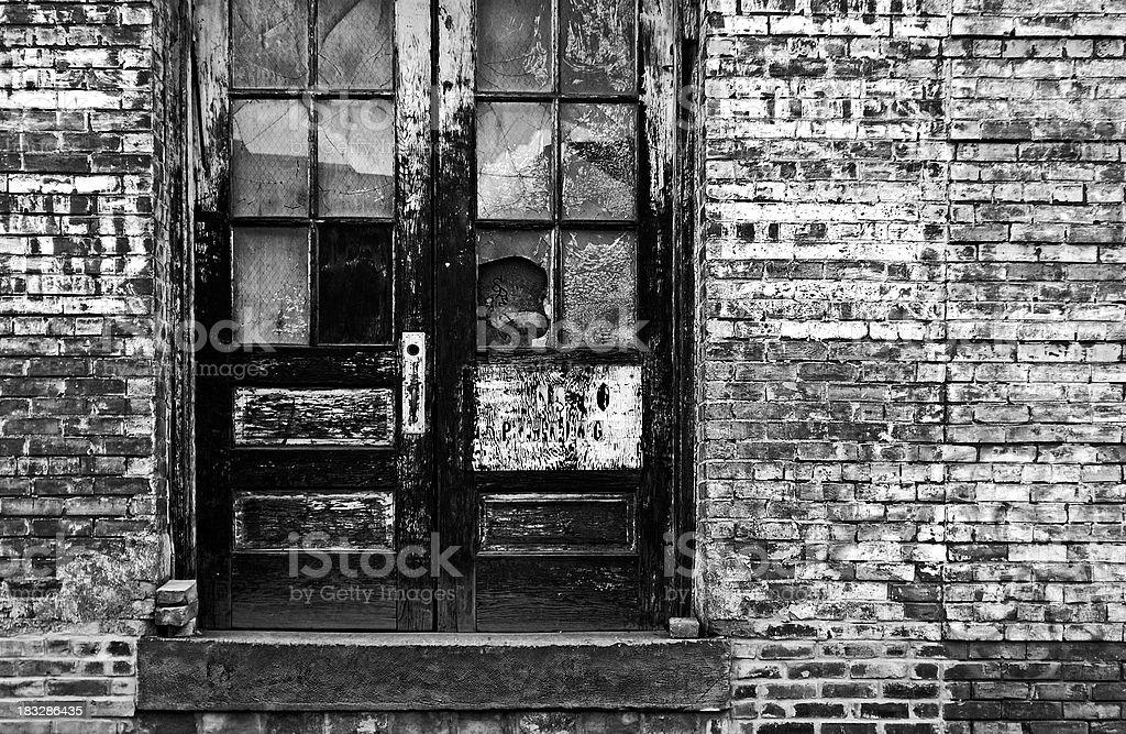 Urban Grunge Black & White stock photo