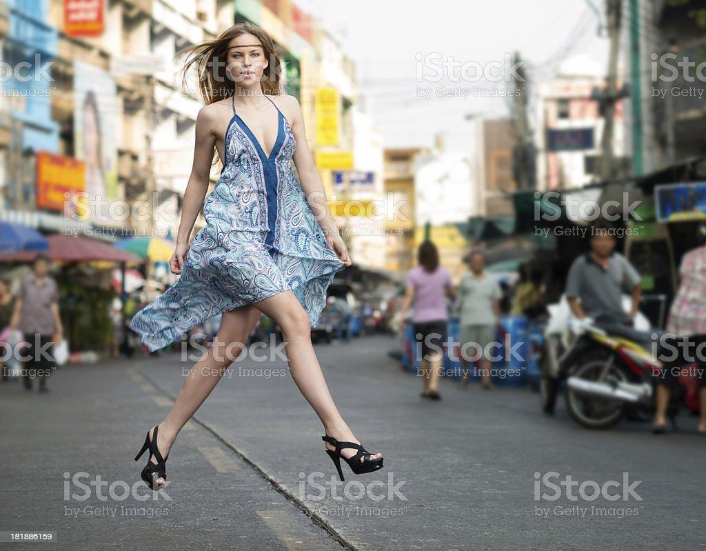 Urban Haute Couture, Downtown Bangkok stock photo