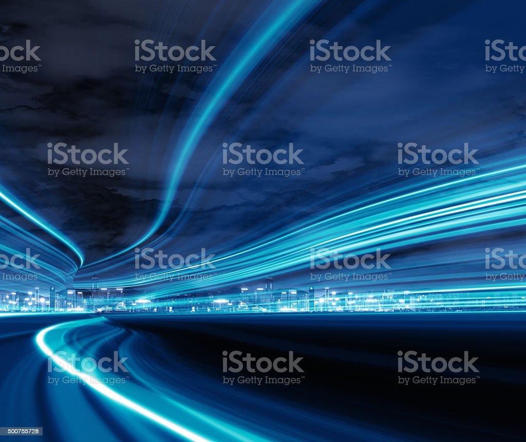 Autoroute trafic de nuit - Photo