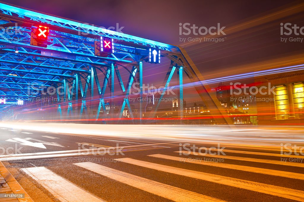 Urban highway traffic in shanghai royalty-free stock photo