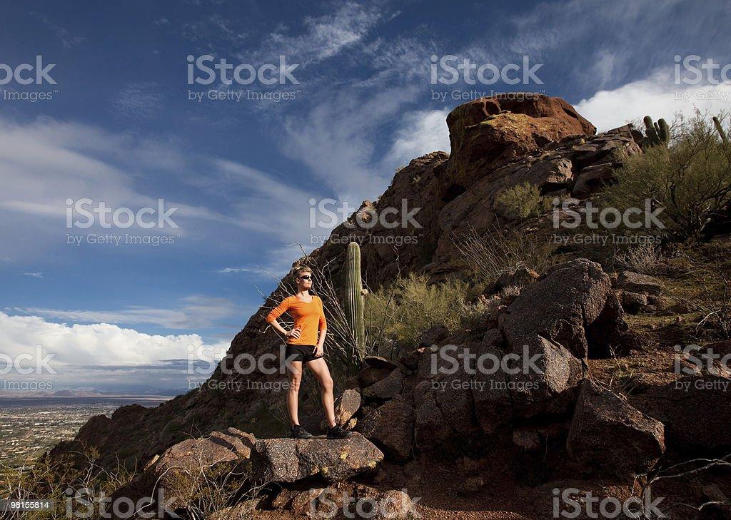 Urban Hiker royalty-free stock photo