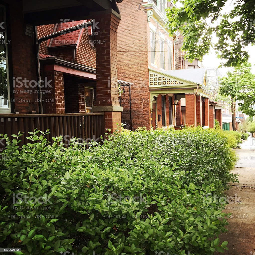 Urban Houses in Pittsburgh Neighborhood stock photo