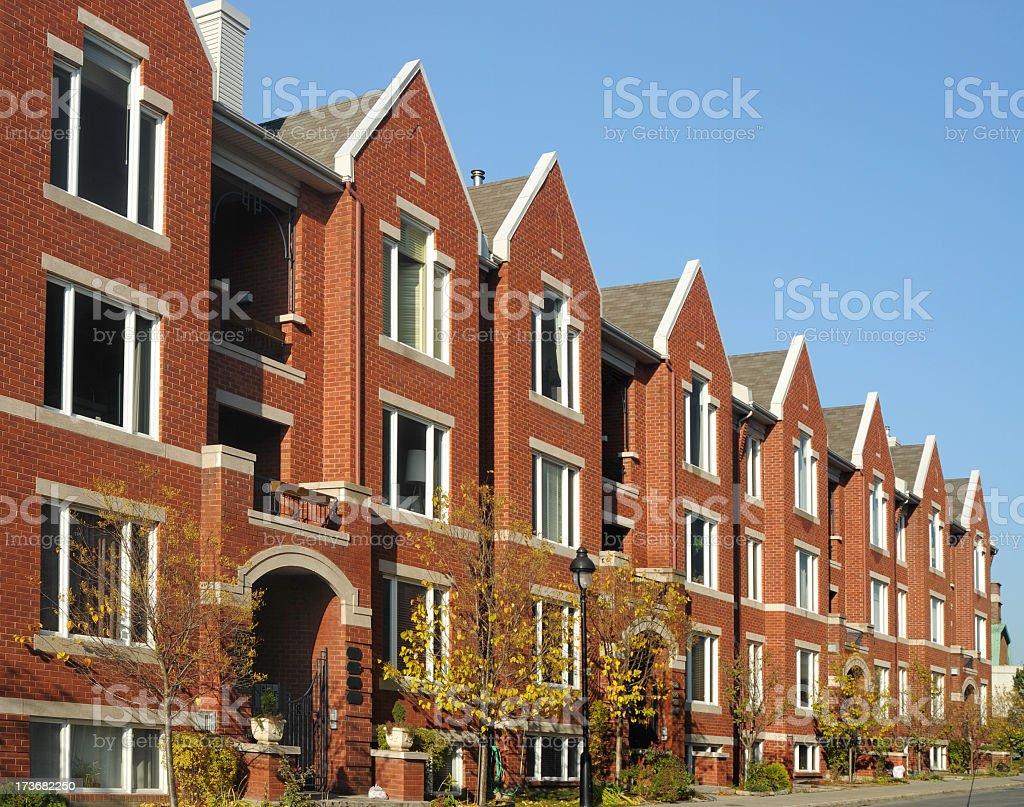 Urban Houses royalty-free stock photo