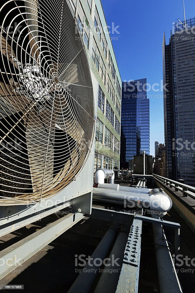 Urban HVAC Air Contidioner Outdoor Unit Manhattan New-York royalty-free stock photo