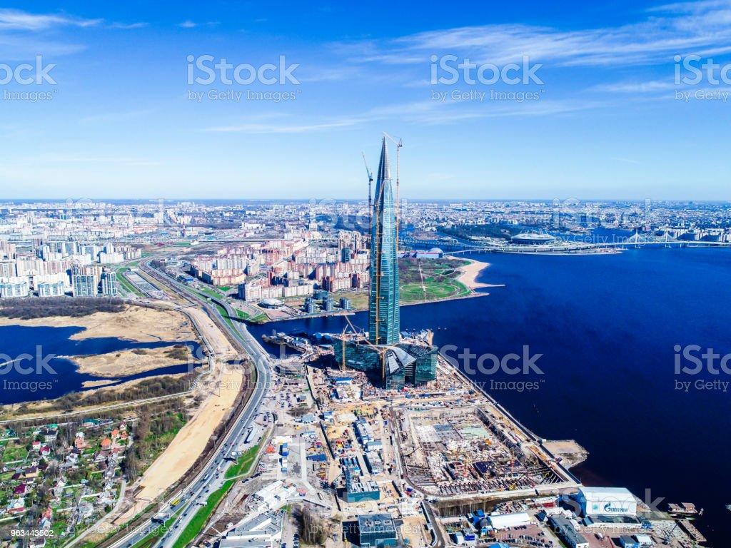 paysage urbain High-Rise building Bay et bleu ciel - Photo de Architecture libre de droits