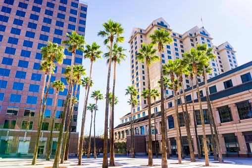 Urban landscape in downtown San Jose, Silicon Valley, California
