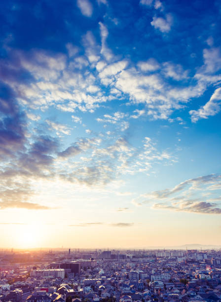 Urban landscape in Japan Urban landscape in Japan horizon over land stock pictures, royalty-free photos & images
