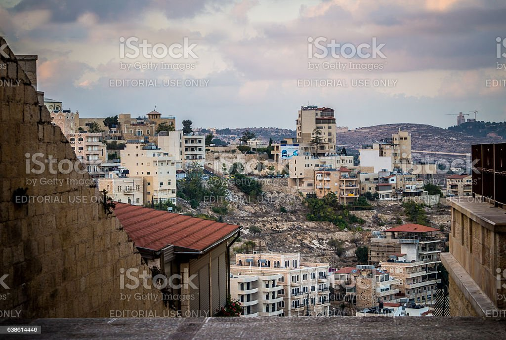 Urban landscape of modern Bethlehem stock photo