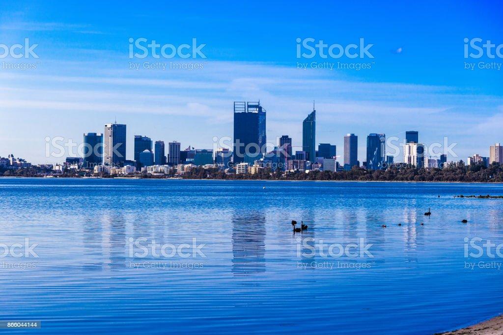 Urban landscape of Perth Australia stock photo