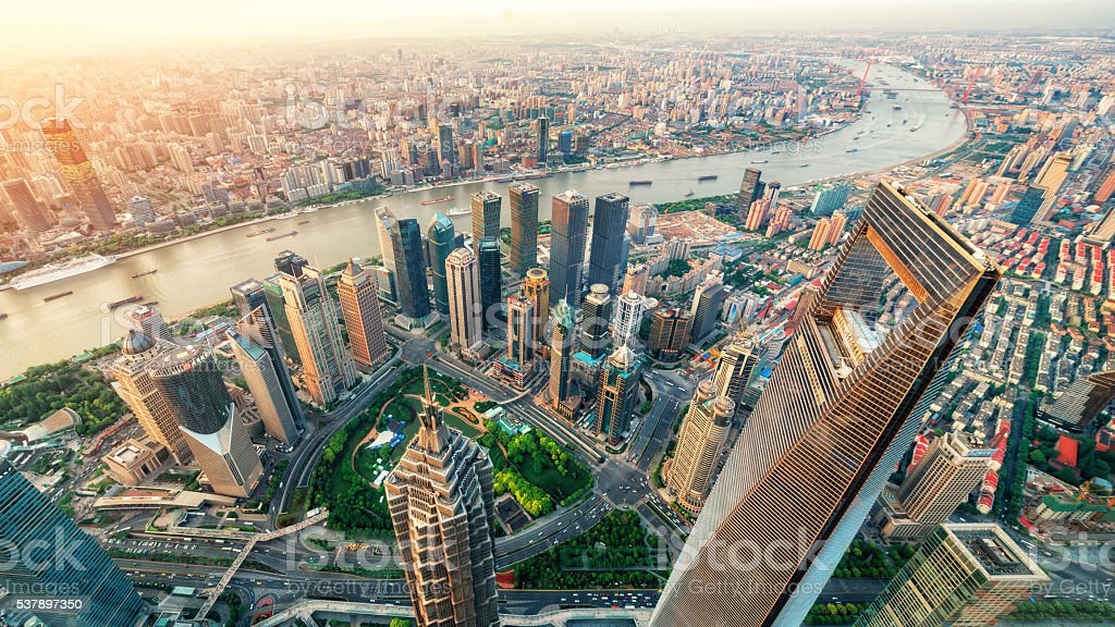 Urban landscape of Shanghai stock photo