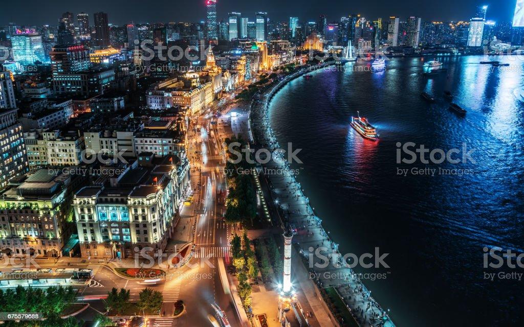 Paysage urbain de Shanghai photo libre de droits