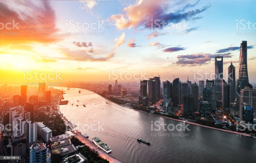 Urban landscape of Shanghai 免版稅 stock photo