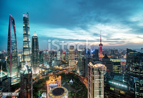 Shanghai is a high-rise buildings, the rapid development of the city.